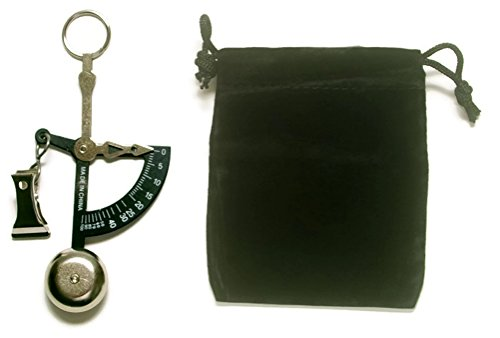AWS Hand Held Weigh Scale Black Analog 100 Gram or 4 Ounce Capacity with Velvet Pouch Bundle by AWS