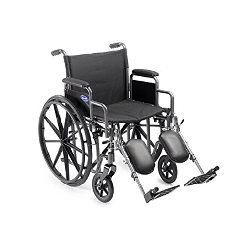 Wheelchair Personal Transport Lightweight (Invacare Veranda 20 x 16 – Large w/Desk Length Removable Arms & Elevated Legrests