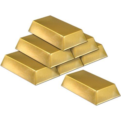 Gold Bar Decorations 6 Per Unit product image