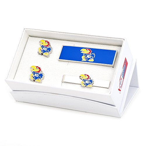 NCAA Mens Kansas University Jayhawks 3-Piece Gift Set by Cufflinks