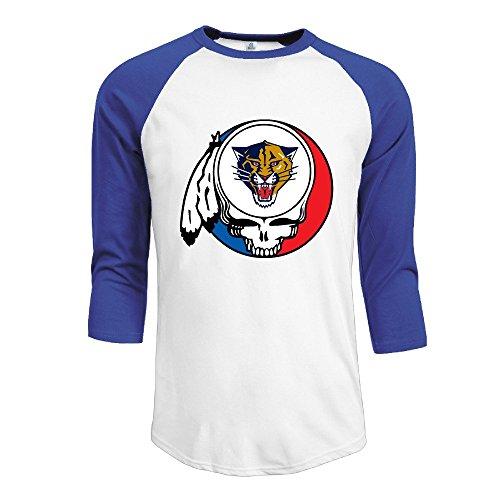 Duola Men's Baseball Tshirt Grateful Tiger Head Portrait Size M RoyalBlue