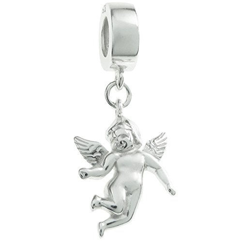 - Sterling Silver Cupid Little Love Angel European Style Dangle Bead Charm