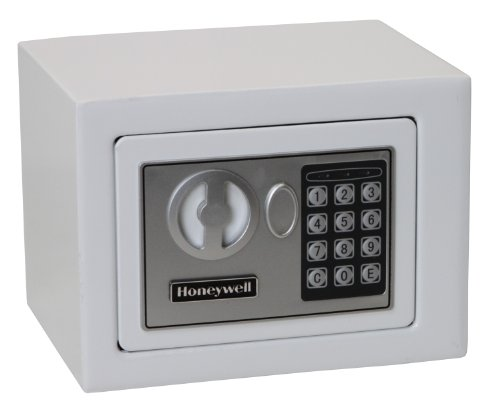 Honeywell Safes & Door Locks 5005W HONEYWELL-5005W Steel Security Safe with Digital Lock, 0.17 Cubic Feet 0.17 Cubic Feet White