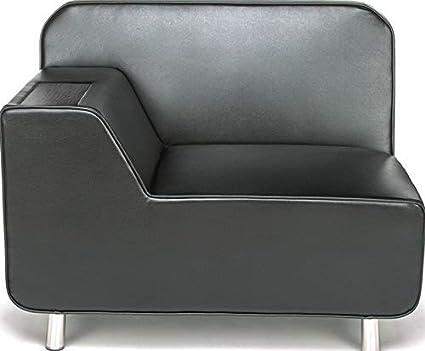 Phenomenal Amazon Com Mikash Left Arm Lounge Chair In Black With Machost Co Dining Chair Design Ideas Machostcouk