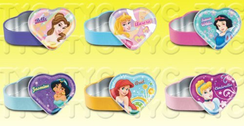 (Disney Princess Heart Tin Collection Set (6 / Set))