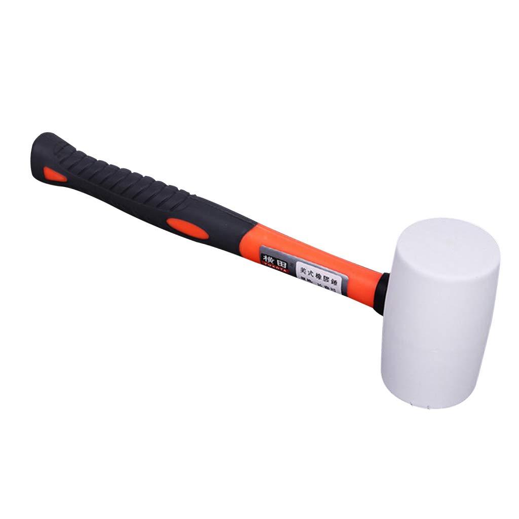 SM SunniMix Hochwertige Pflastererhammer Plattenverlegehammer Hartgummihammer bei Pflasterarbeit 907 g
