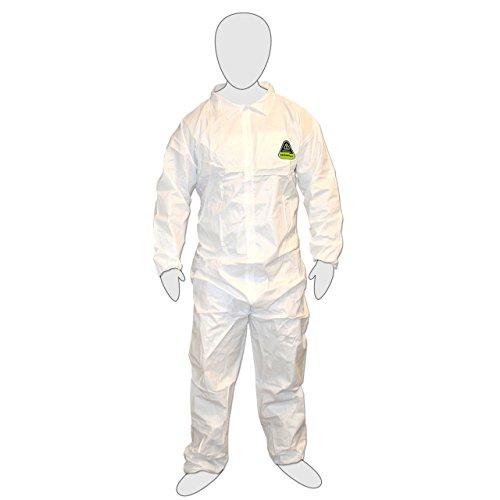 Cordova CPE3XL - DEFENDER White Coverall, Zipper Front -3X-Large (Case of 25) by Cordova