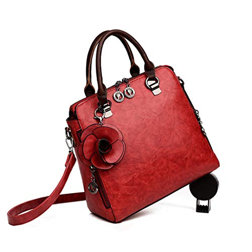 Bag Rétro Simple Mode Sauvage 5 Sac Grande Capacité Couleurs 26 Épaule Sac Jujube Main 28 Rouge 5 Femmes cm À Couleur Messenger 9 F7pqz