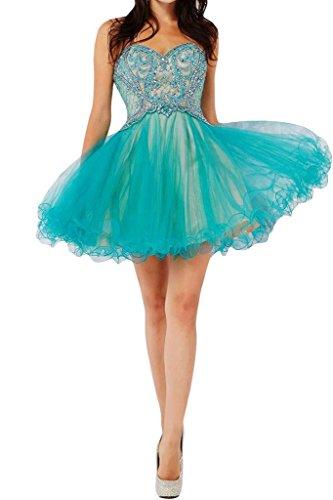 Sweetheart linea conti in una Blu Sunvary Homecoming paillette raso organza di sposa Fiesta da abito EqIqZXw1