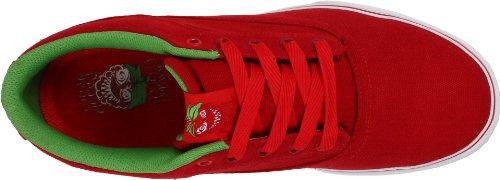 Osiris Caswell-Vulc 602172 Unisex - Erwachsene Sportschuhe - Skateboarding Rot / Weiß