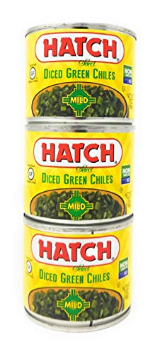 Diced Mild - Hatch Chile Company Select Diced Green Chiles Mild 7oz QTY 3