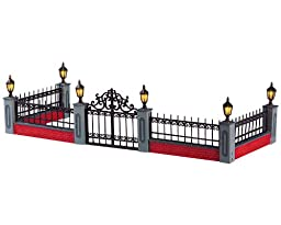 Lemax 54303 Lighted Wrought Iron Fence Accessory