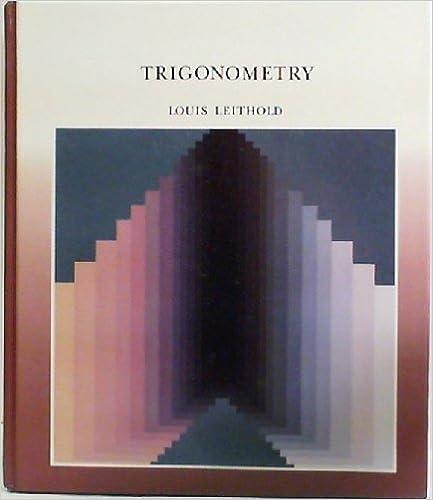 Trigonometry Louis Leithold 9780201170566 Books