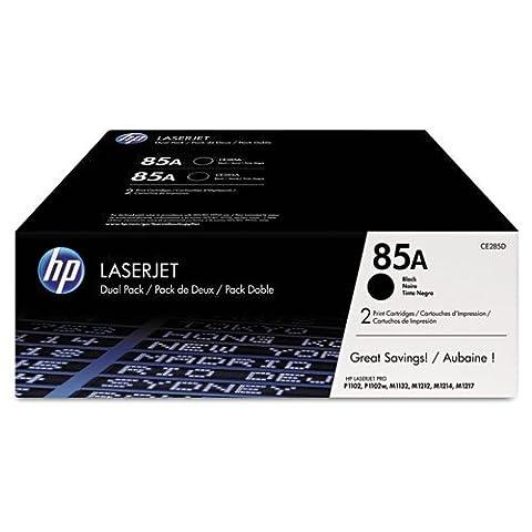 HP - HP 85A, (CE285D) 2-pack Black Original LaserJet Toner Cartridges CE285D (DMi BX (Hp 85a Black Toner)