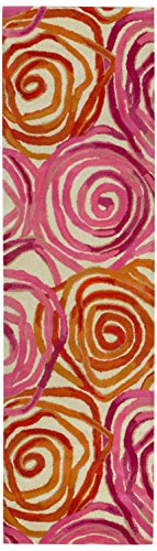 Liora Manne Tivoli Rambling Rose Area Rug, 27-Inch by 8-Feet, Sunset Rambling Rose Rug