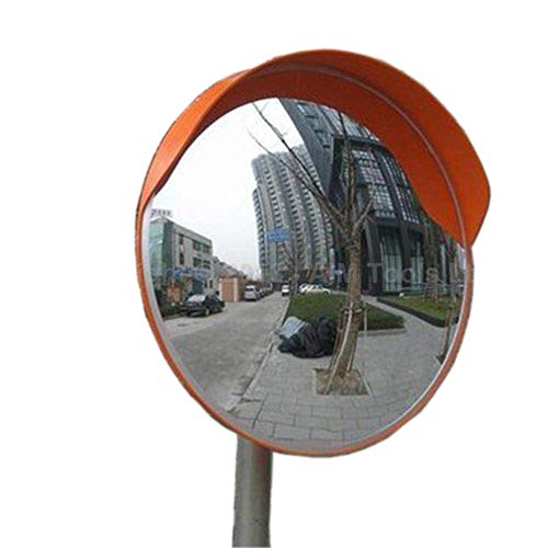 Convex Traffic Mirror Unbreakable Road Mirror Wide Angle Curved Safety Mirror for Driveway Blind Spot Road 30cm