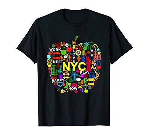 Love Apple - Mens I LOVE NYC T-Shirts NEW YORK CITY BIG APPLE XL Black