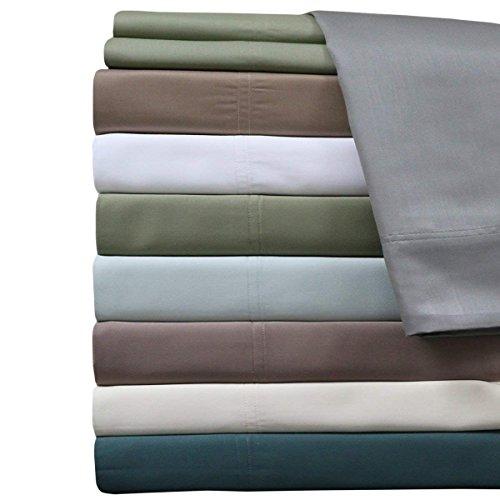 Queen Gray Silky Soft sheets 100% Viscose from Bamboo Sheet Set