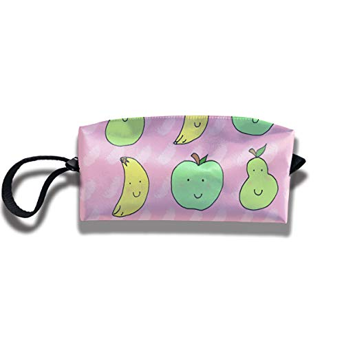 WEEDKEYCAT Banana Apple Pear Fruit Travel Cosmetic Bag Pen Pencil Portable Toiletry Brush Storage,Multi-Function Accessories Sewing Kit Bags Pouch Makeup Carry Case with Zipper ()