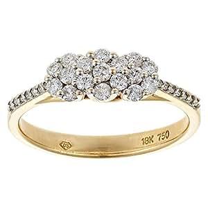 Eternal Jewels Women's Gold Diamond Fashion Ring