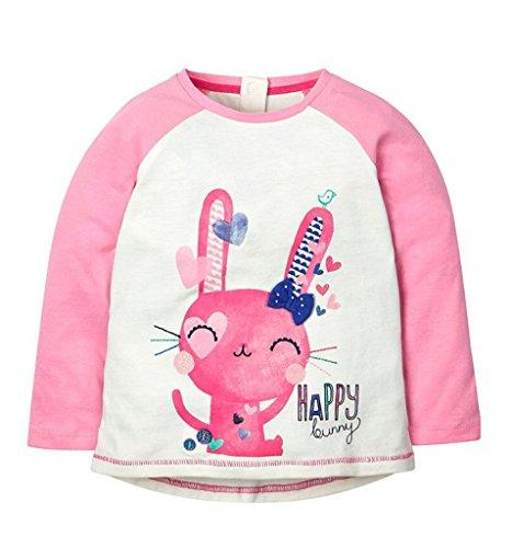 Mini Bitty Girls' Cotton Crewneck Long Sleeve T-shirt(LB1122,5T)