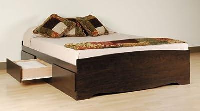 Prepac Espresso 6-Drawer Platform Storage Bed