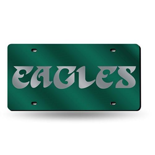 Rico Philadelphia Eagles Deluxe Mirrored Laser Cut License Plate ()