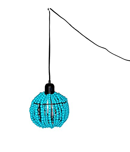 Turquoise Beaded Pendant Light