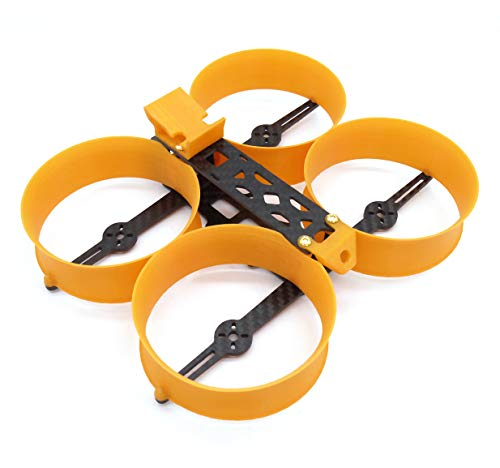 Readytosky Donut 140mm FPV Racing Drone Frame Carbon Fiber 3 inch Quadcopter Frame Kit H Type with 3D Print ()