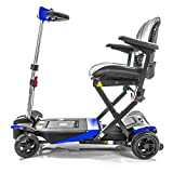 Transformer Automatic Folding Travel Scooter BLUE with Lightweight Lithium Battery, Airline Approved