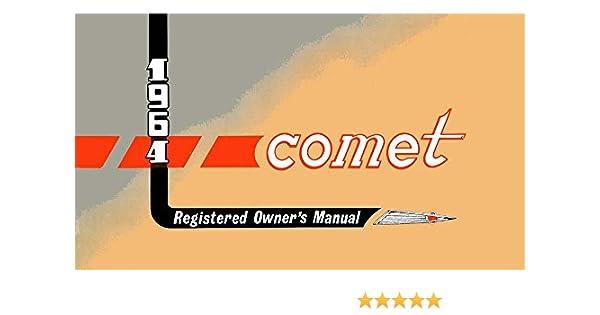 amazon com bishko automotive literature 1964 mercury comet owners rh amazon com 1965 Comet 1963 Comet