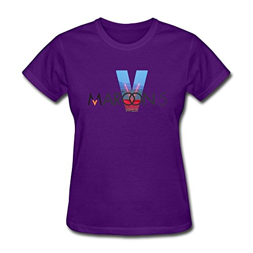 Lady Design Normal Fit Tshirts/Maroon 5 Purple