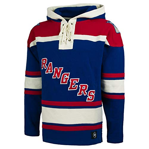 bad936409  47 New York Rangers NHL Heavyweight Jersey Lacer Hoodie - XX-Large