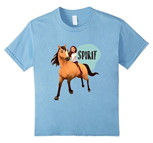 Kids DreamWorks Spirit Riding Free - Lucky & Spirit T-Shirt 6 Baby Blue