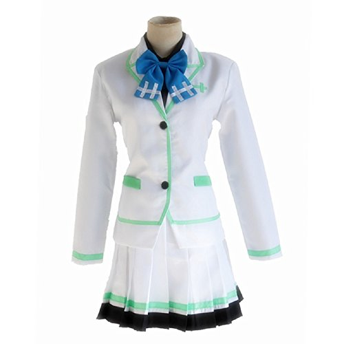 Mtxc Women's Myriad Colors Phantom World Cosplay Reina Izumi Female School Uniform Size Small White
