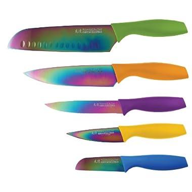 Hampton Forge HMC01E550S Tomodachi Titanium Cutlery Set, 10-Pieces