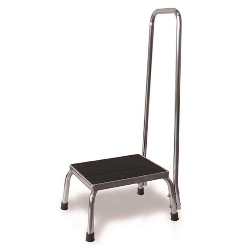 LMEIL Step Stool with Handle for Adults and Seniors, Heavy Duty Metal Stepping Stool for High Beds,Elderly Step Stool,Portable Foot Step Stool by LMEIL