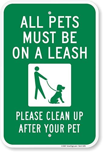 Where to find leash your dog sign?