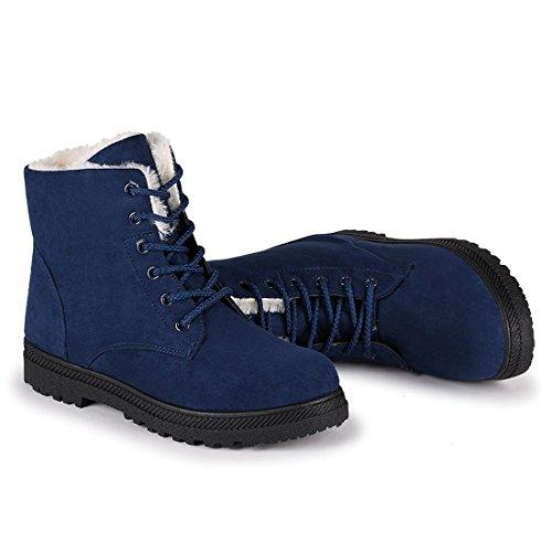 Not100 Wintersneeuwlaarzen Voor Dames, Warme Sneakers, Maat 9 Blauw