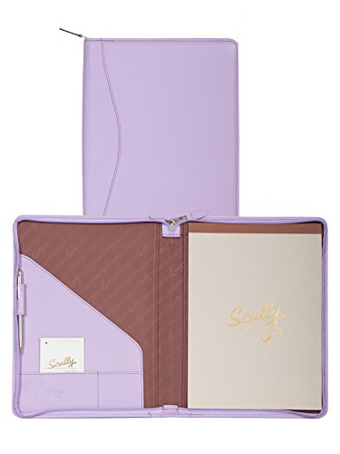 (Scully Soft Lamb Leather Zip Letter Pad (Lavender))