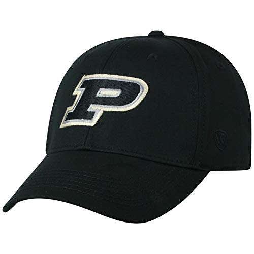 (NCAA Purdue Boilermakers Men's Fitted Relaxed Fit Team Icon Hat, Black)
