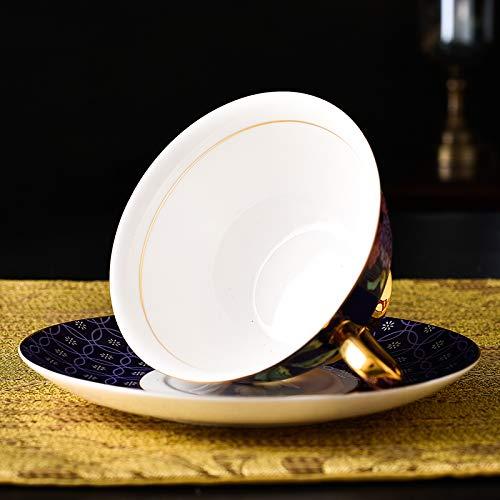 Teacup and Saucer Set Hand-made Fancy Tea Cups Fine Bone China Purple Coffee cup 6.8oz