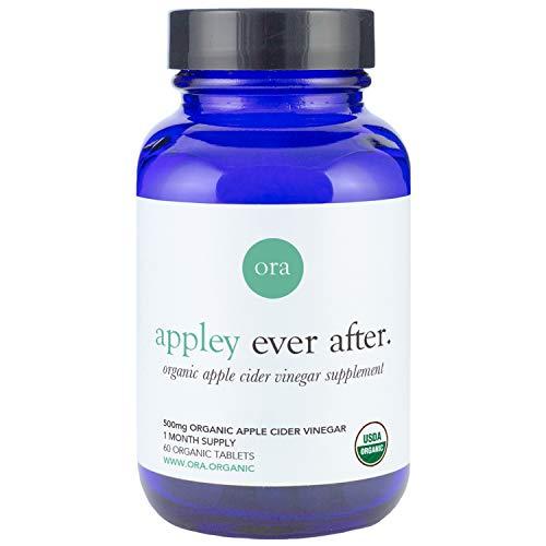 Organic Apple Cider Vinegar Pills 590mg - High in Acetic Acid - Detox, Digestion & Weight Loss Support-Kiss Vinegar Breath Goodbye - 60 ACV Tablets