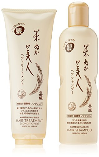 Komenuka Bijin Premium Hair Care Set: Moisturizing Hair Shampoo & Hair Treatment / Conditioner