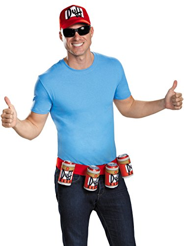 Disguise Men's Duffman Costume Kit, Multi, One Size -