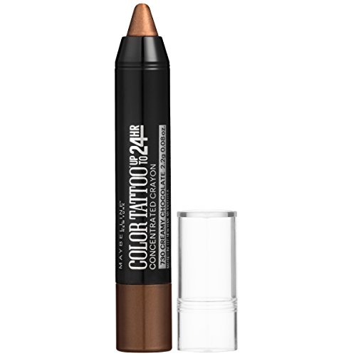 Maybelline Eyestudio ColorTattoo Concentrated Crayon,730 Creamy Chocolate, 0.08 oz. (Best Tattoo Colors For Brown Skin)