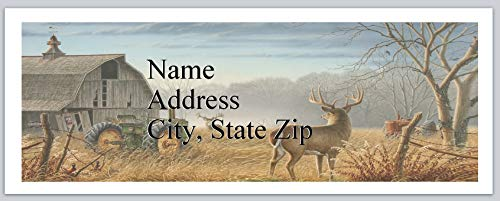 150 Personalized Return Address Labels Western Country Deer (bx 680)