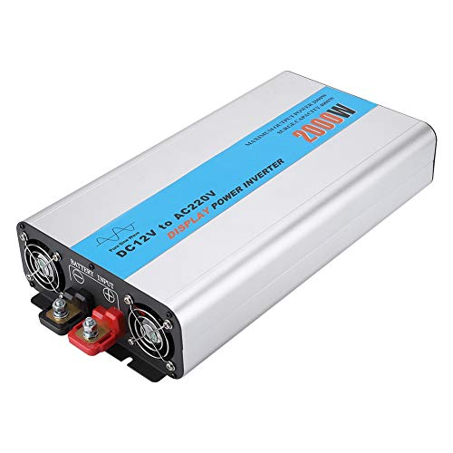 2000W DC 12V to 220V with AC EU Outlets und USB Ports or Cellphones Laptops Devices Charging XMAGG Car USB Power Inverter Converter