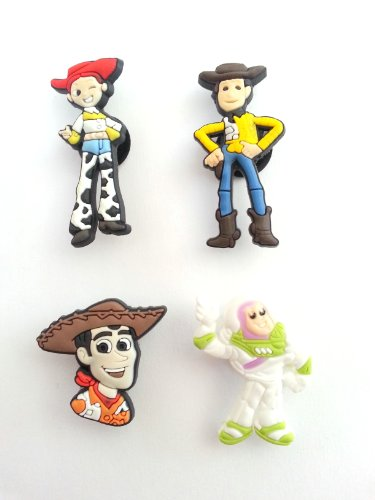[AVIRGO 4 pcs Shoe Charms Set # 109-1] (Slinky Dog Toy Story Costume)