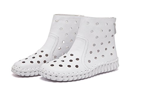 Genuino Flats Spring 3 Redonda de Nuevo UK Hollow Señoras Zapatos Cabeza Las de Work Cuero Únicos Soft Mujeres 35 EUR39UK665 NVXIE Moda WHITE Fall Bombas Bottom Botas Party Ocio Cortas EUR 0RwBqff